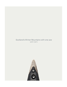 Scotlands winter mountains with one axe book cover
