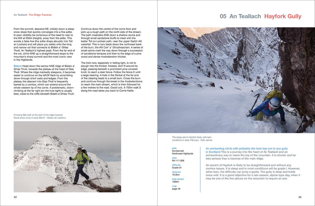 Climbing Hayfork Gully, winter mountaineering on An Teallach