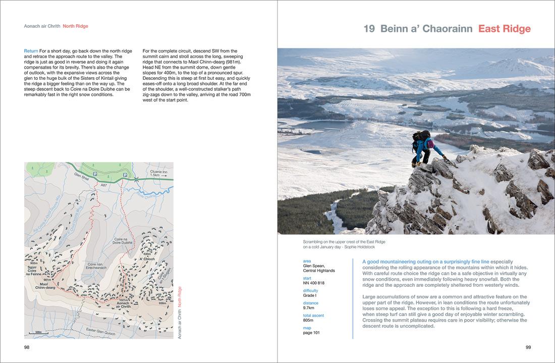 Winter mountaineering on the east ridge of Beinn a Chaorainn