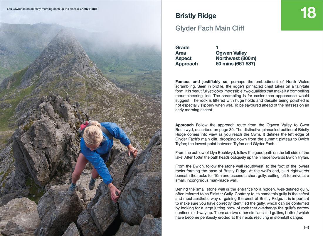 Bristly Ridge a classic Snowdonia Scramble