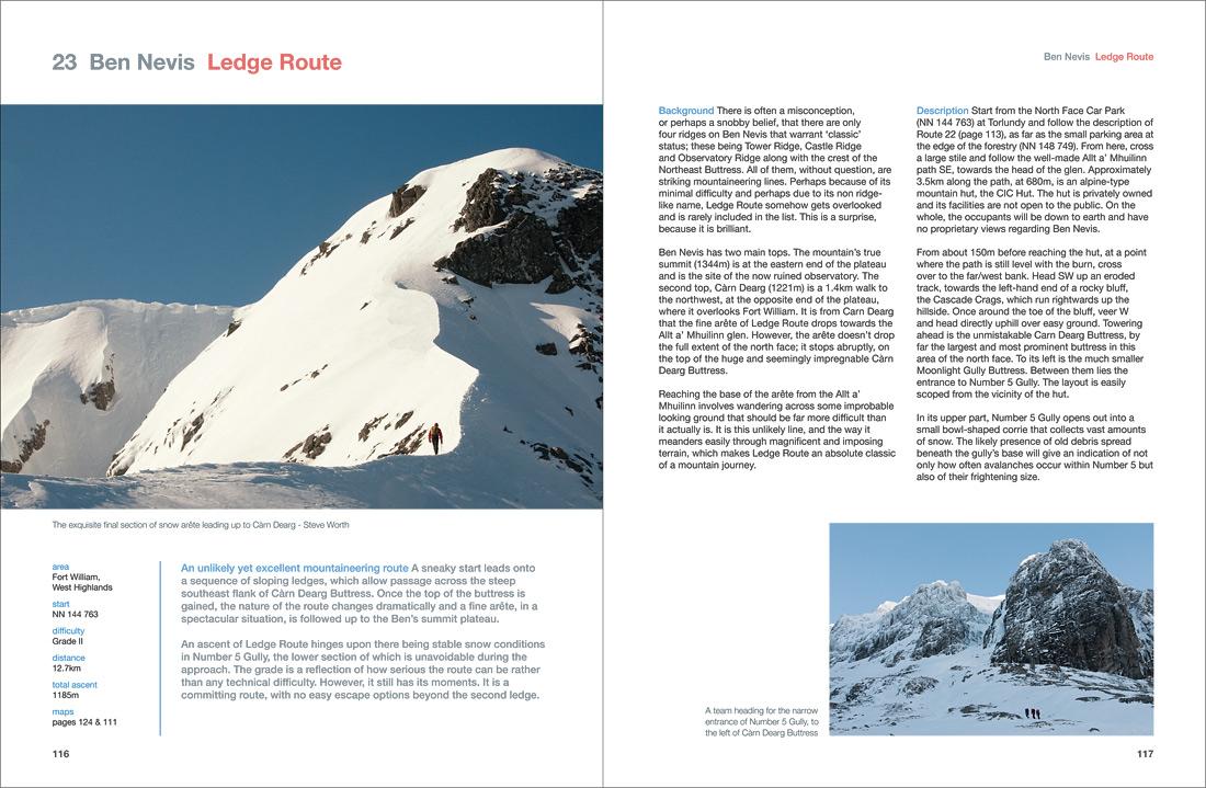 Classic Scottish winter mountaineering on Ledge Route, Ben Nevis