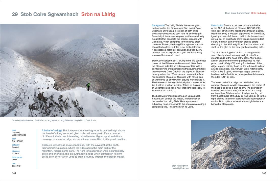 Sron na Lairig, a winter mountaineering ridge in Glencoe